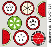 fruit cut design | Shutterstock .eps vector #1171474324