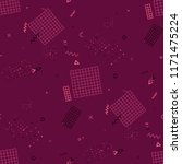 vintage memphis pattern....   Shutterstock .eps vector #1171475224