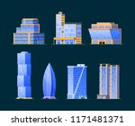 set of different buildings ... | Shutterstock .eps vector #1171481371