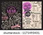 ice cream restaurant menu on... | Shutterstock .eps vector #1171493431