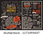 pizza restaurant menu vector...   Shutterstock .eps vector #1171493437