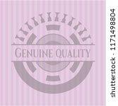 genuine quality pink emblem | Shutterstock .eps vector #1171498804