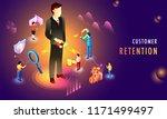 miniature people as customers... | Shutterstock .eps vector #1171499497