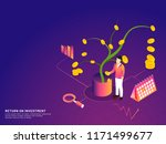 isometric concept  seeding a... | Shutterstock .eps vector #1171499677