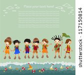 children's holiday. background | Shutterstock .eps vector #117150814