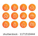 fire flat line icons. flame... | Shutterstock .eps vector #1171510444