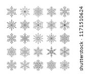 cute snowflakes collection... | Shutterstock .eps vector #1171510624