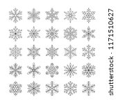 cute snowflakes collection... | Shutterstock .eps vector #1171510627