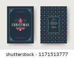christmas greeting card design... | Shutterstock .eps vector #1171513777