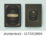 christmas greeting card design... | Shutterstock .eps vector #1171513804