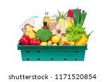 fresh healthy groceries and...   Shutterstock . vector #1171520854