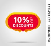 special offer sale red tag... | Shutterstock . vector #1171524811