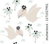 dinosaur baby girl seamless...   Shutterstock .eps vector #1171527901