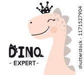 dinosaur baby girl cute print.... | Shutterstock .eps vector #1171527904