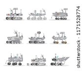 mars rover with camera  wheels  ... | Shutterstock . vector #1171528774