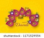 diwali festival holiday design...   Shutterstock .eps vector #1171529554