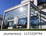 residential home with modern... | Shutterstock . vector #1171529794