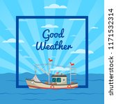 good weather poster with small... | Shutterstock . vector #1171532314