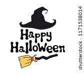 happy halloween theme.... | Shutterstock .eps vector #1171538014