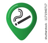 smoking area marker map pin... | Shutterstock .eps vector #1171540717