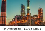 oil refinery industrial plant... | Shutterstock . vector #1171543831