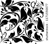 vintage black and white floral... | Shutterstock .eps vector #1171550077