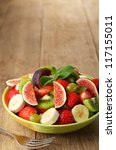 Healthy Fruit Mix Salad On The...
