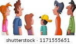 big group of people looking at... | Shutterstock .eps vector #1171555651