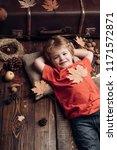 little child enjoy childhood....   Shutterstock . vector #1171572871