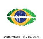 modern brasil lip kiss logo...   Shutterstock .eps vector #1171577071