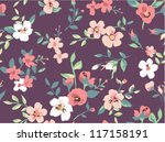 seamless beautiful flower... | Shutterstock .eps vector #117158191