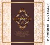 elegance style golden frame | Shutterstock .eps vector #1171586614