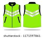 reflective vest design ... | Shutterstock .eps vector #1171597861