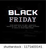 black friday. template banner... | Shutterstock .eps vector #1171603141