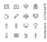 collection of 16 portable...   Shutterstock .eps vector #1171616674