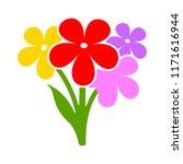 vector floral flowers...   Shutterstock .eps vector #1171616944