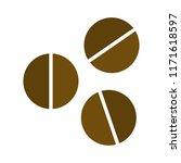 coffee beans icon vector...   Shutterstock .eps vector #1171618597