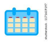 vector calendar event reminder  ... | Shutterstock .eps vector #1171619197