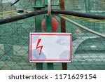 empty sign of electrical hazard ... | Shutterstock . vector #1171629154