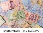 closeup thai banknote  twenty ... | Shutterstock . vector #1171632397