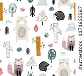 seamless childish pattern with... | Shutterstock .eps vector #1171633267