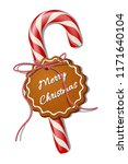 red christmas candy cane with... | Shutterstock .eps vector #1171640104
