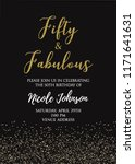 fabulous fifty birthday party...   Shutterstock .eps vector #1171641631