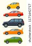 big set of car models. vector... | Shutterstock .eps vector #1171642717