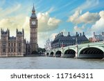 the big ben  the houses of... | Shutterstock . vector #117164311