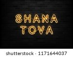 vector realistic isolated neon... | Shutterstock .eps vector #1171644037