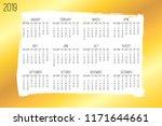 year 2018 vector monthly modern ... | Shutterstock .eps vector #1171644661