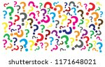 question mark faq pattern... | Shutterstock .eps vector #1171648021