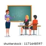 teaching  education. teacher... | Shutterstock .eps vector #1171648597