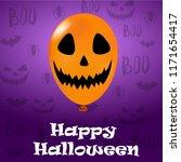 happy halloween  3d vector... | Shutterstock .eps vector #1171654417